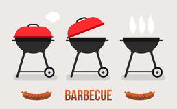 Barbecue illustration concept Royalty Free Stock Photos