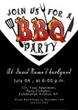 Barbecue invitation. Black and white Barbeque party invitation Royalty Free Stock Images