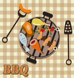 Barbecue invitation card Royalty Free Stock Photo