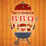 Barbecue invitation event advertisement poster Stock Image