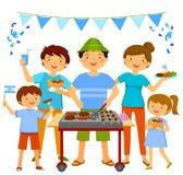 Barbecue israélien de Jour de la Déclaration d'Indépendance Photographie stock libre de droits