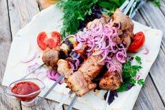 barbecue kebab fotografia de stock