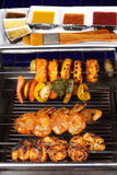 Barbecue Kebab Platter Stock Photography