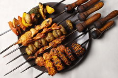 Barbecue Kebab Platter Stock Photo