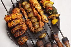 Barbecue Kebab Platter Royalty Free Stock Photos