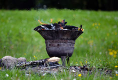 Barbecue klaar voor grill Royalty-vrije Stock Foto