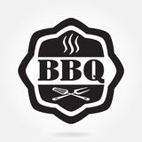 Barbecue label or BBQ stamp isolated on white background. Grill menu design template. Vector illustration. vector illustration