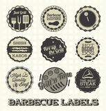 Barbecue Labels and Icons Stock Images