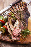 Barbecue Lamb Carree Royalty Free Stock Photography
