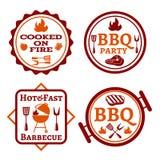Barbecue logo Royalty Free Stock Photos