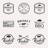 Barbecue logo set stock illustration