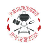 Barbecue logo template Royalty Free Stock Photography