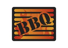 Barbecue Logotype. Logotype of barbecue with ribs hamburger and sauce Stock Illustration