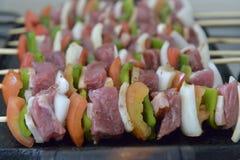 Barbecue mélangé Photos libres de droits