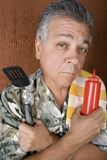Barbecue Man Stock Photography