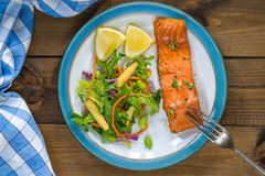 Barbecue maple glazed salmon Royalty Free Stock Image