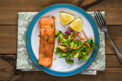Barbecue maple glazed salmon Royalty Free Stock Images
