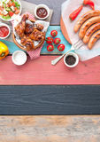 Barbecue meal background Stock Photography
