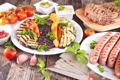 Barbecue meal royalty free stock photos