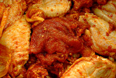 Barbecue meat. Firstly, beef, chicken, onion, pepper and spices mixed together, then you can put them over the fire to barbecue Stock Images