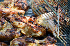 Barbecue. Meat roasted on the fire Royalty Free Stock Image