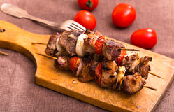 Barbecue meat on skewers Royalty Free Stock Photography