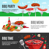 Barbecue Menu Banners Set Royalty Free Stock Photos
