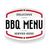 Barbecue menu Bbg vintage label. Vector Stock Photos