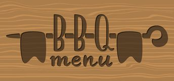 Barbecue menu label, logo and emblem vector templates isolated on white background. Steak house restaurant menu design element Royalty Free Stock Photos