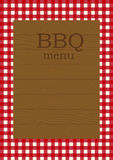 Barbecue menu page. Page template for a  restaurant menu Stock Photography