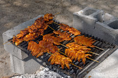Barbecue mexicain de crevette Image libre de droits