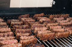 Barbecue with mici Stock Photo