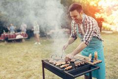 Barbecue in nature Stock Images