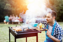 Barbecue in nature Stock Image