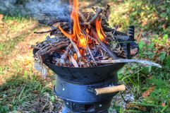 Barbecue in nature Royalty Free Stock Photography