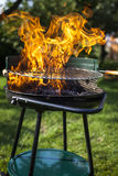 Barbecue nel giardino, cena realmente saporita Immagini Stock Libere da Diritti