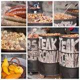 Barbecue in oil drums Royalty Free Stock Image