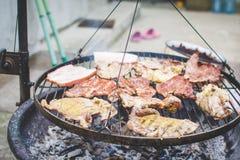 Barbecue op de grill Royalty-vrije Stock Foto