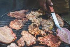 Barbecue op de grill Royalty-vrije Stock Fotografie
