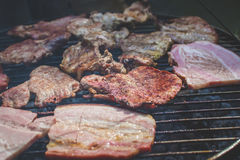 Barbecue op de grill Royalty-vrije Stock Afbeeldingen