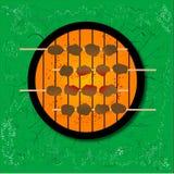 Barbecue op het gras vector illustratie