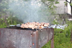 Barbecue in openlucht Stock Afbeelding