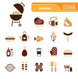 Barbecue & Food - Iconset Icons. BBQ - Outdoor Activities vector illustration
