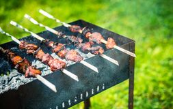 Barbecue outdoors royalty free stock photos