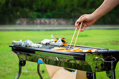 Barbecue outside Royalty Free Stock Photos