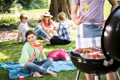 Barbecue in the park Royalty Free Stock Image