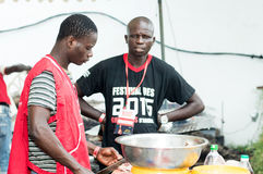 Barbecue party in Abidjan. Stock Photo