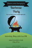 Barbecue party flyer Royalty Free Stock Images