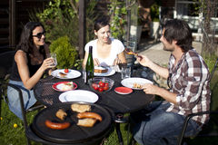 Barbecue party in the garden Stock Image