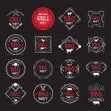 Barbecue party icon. BBQ menu design. Stock Photos